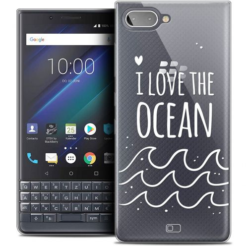 "Extra Slim Crystal Gel BlackBerry Key2 LE (4.5"") Case Summer I Love Ocean"