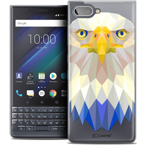 "Extra Slim Crystal Gel BlackBerry Key2 LE (4.5"") Case Polygon Animals Eagle"