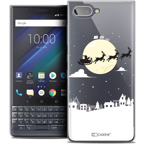 "Extra Slim Crystal Gel BlackBerry Key2 LE (4.5"") Case Noël 2017 Flying Stanta"