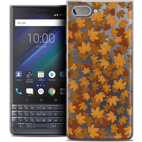 "Extra Slim Crystal Gel BlackBerry Key2 LE (4.5"") Case Autumn 16 Feuilles"