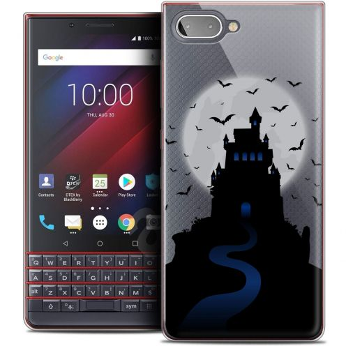"Extra Slim Crystal Gel BlackBerry Key2 LE (4.5"") Case Halloween Castle Nightmare"