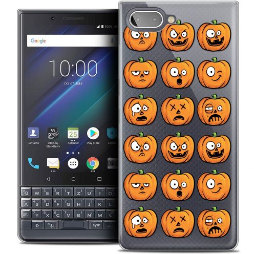 "Extra Slim Crystal Gel BlackBerry Key2 LE (4.5"") Case Halloween Cartoon Citrouille"