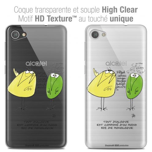 "Extra Slim Crystal Gel Alcatel A5 LED (5.2"") Case Les Shadoks® Le Dialogue"