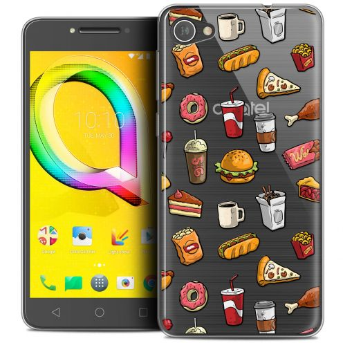 "Extra Slim Crystal Gel Alcatel A5 LED (5.2"") Case Foodie Fast Food"