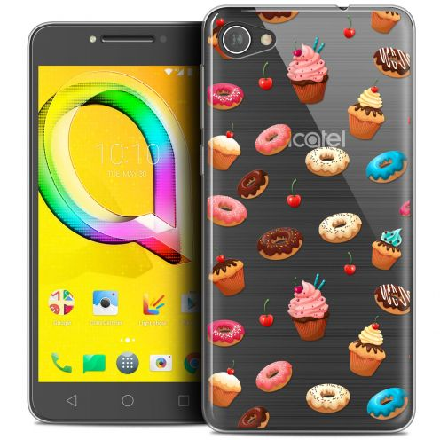 "Extra Slim Crystal Gel Alcatel A5 LED (5.2"") Case Foodie Donuts"