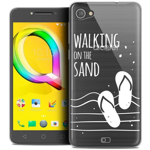 "Extra Slim Crystal Gel Alcatel A5 LED (5.2"") Case Summer Walking on the Sand"