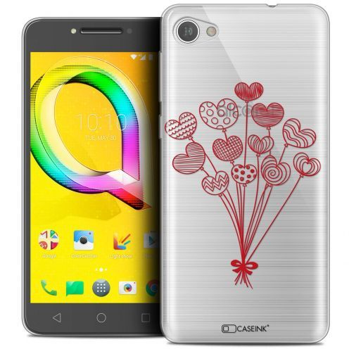 "Extra Slim Crystal Gel Alcatel A5 LED (5.2"") Case Love Ballons d'amour"
