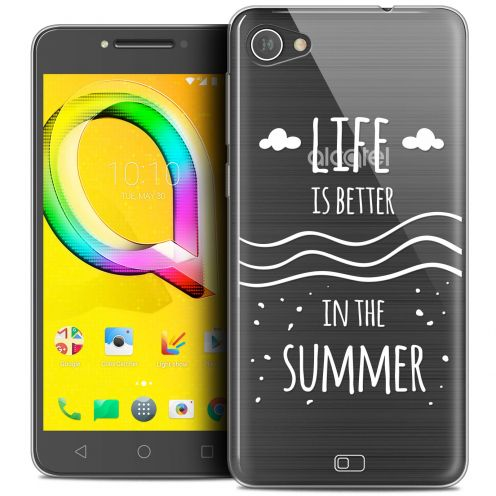 "Extra Slim Crystal Gel Alcatel A5 LED (5.2"") Case Summer Life's Better"