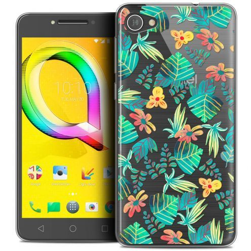 "Extra Slim Crystal Gel Alcatel A5 LED (5.2"") Case Spring Tropical"