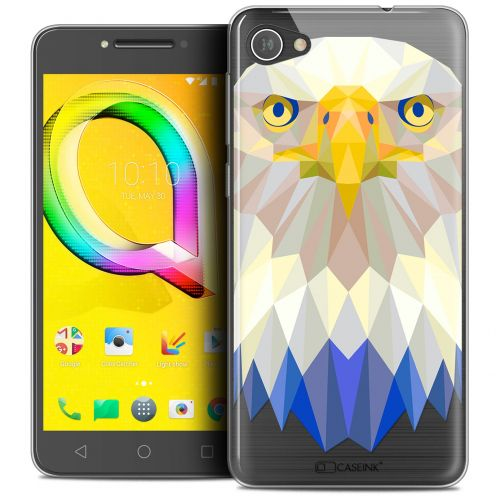 "Extra Slim Crystal Gel Alcatel A5 LED (5.2"") Case Polygon Animals Eagle"