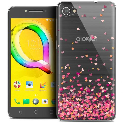 "Extra Slim Crystal Gel Alcatel A5 LED (5.2"") Case Sweetie Heart Flakes"