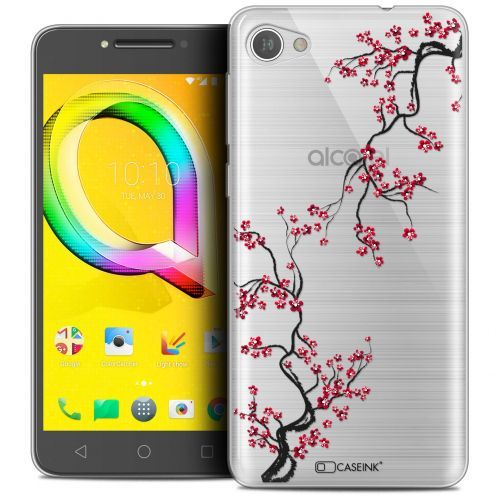"Extra Slim Crystal Gel Alcatel A5 LED (5.2"") Case Summer Sakura"