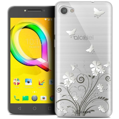 "Extra Slim Crystal Gel Alcatel A5 LED (5.2"") Case Summer Papillons"