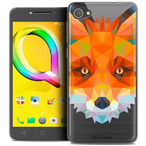 "Extra Slim Crystal Gel Alcatel A5 LED (5.2"") Case Polygon Animals Fox"