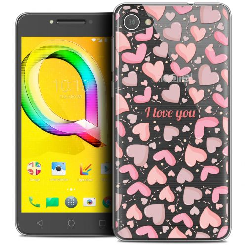 "Extra Slim Crystal Gel Alcatel A5 LED (5.2"") Case Love I Love You"