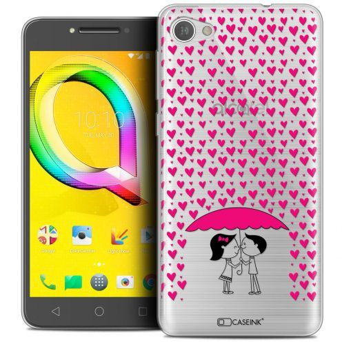 "Extra Slim Crystal Gel Alcatel A5 LED (5.2"") Case Love Pluie d'Amour"