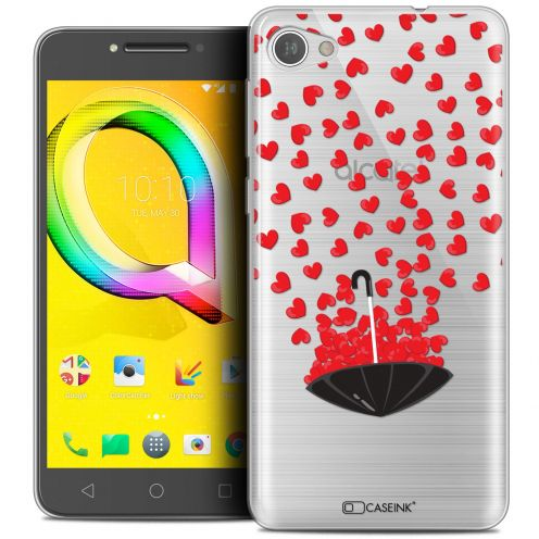 "Extra Slim Crystal Gel Alcatel A5 LED (5.2"") Case Love Parapluie d'Amour"