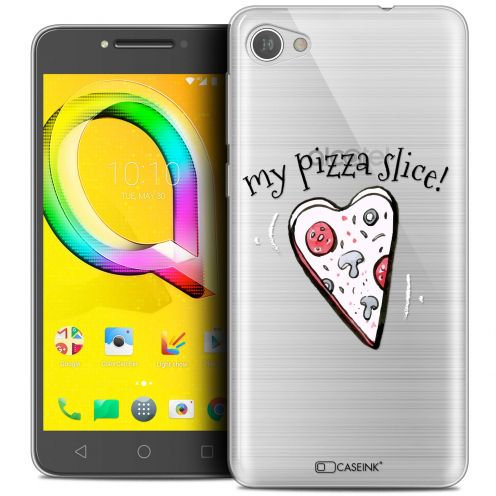"Extra Slim Crystal Gel Alcatel A5 LED (5.2"") Case Love My Pizza Slice"