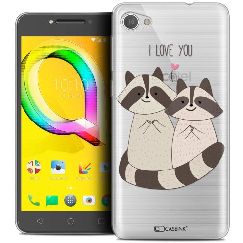 "Extra Slim Crystal Gel Alcatel A5 LED (5.2"") Case Sweetie Racoon Love"