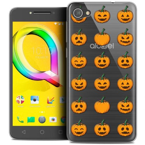 "Extra Slim Crystal Gel Alcatel A5 LED (5.2"") Case Halloween Smiley Citrouille"