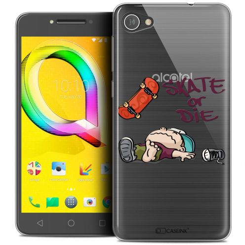 "Extra Slim Crystal Gel Alcatel A5 LED (5.2"") Case BD 2K16 Skate Or Die"