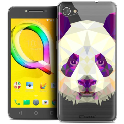 "Extra Slim Crystal Gel Alcatel A5 LED (5.2"") Case Polygon Animals Panda"