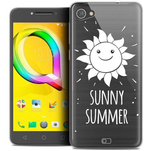 "Extra Slim Crystal Gel Alcatel A5 LED (5.2"") Case Summer Sunny Summer"