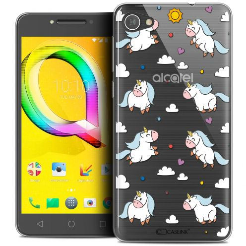"Extra Slim Crystal Gel Alcatel A5 LED (5.2"") Case Fantasia Licorne In the Sky"