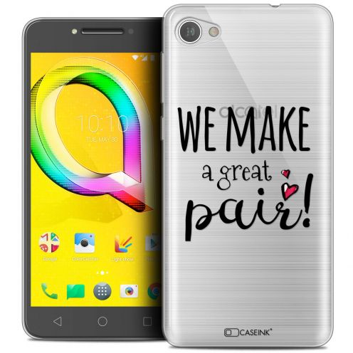 "Extra Slim Crystal Gel Alcatel A5 LED (5.2"") Case Love We Make Great Pair"