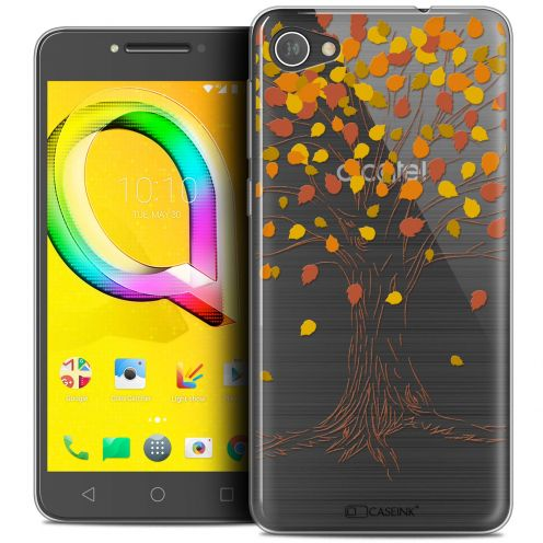 "Extra Slim Crystal Gel Alcatel A5 LED (5.2"") Case Autumn 16 Tree"