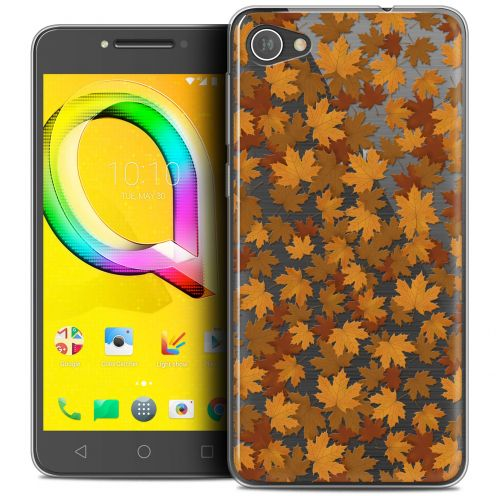 "Extra Slim Crystal Gel Alcatel A5 LED (5.2"") Case Autumn 16 Feuilles"