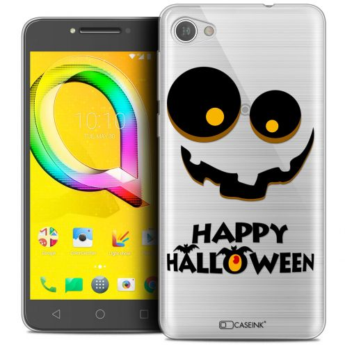 "Extra Slim Crystal Gel Alcatel A5 LED (5.2"") Case Halloween Happy"
