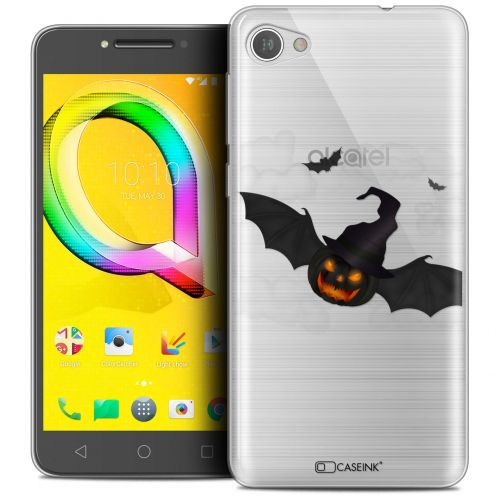 "Extra Slim Crystal Gel Alcatel A5 LED (5.2"") Case Halloween Chauve Citrouille"