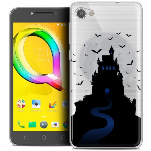 "Extra Slim Crystal Gel Alcatel A5 LED (5.2"") Case Halloween Castle Nightmare"