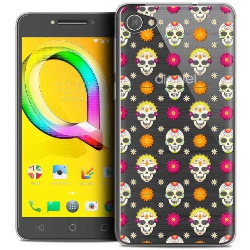 "Extra Slim Crystal Gel Alcatel A5 LED (5.2"") Case Halloween Skull Halloween"