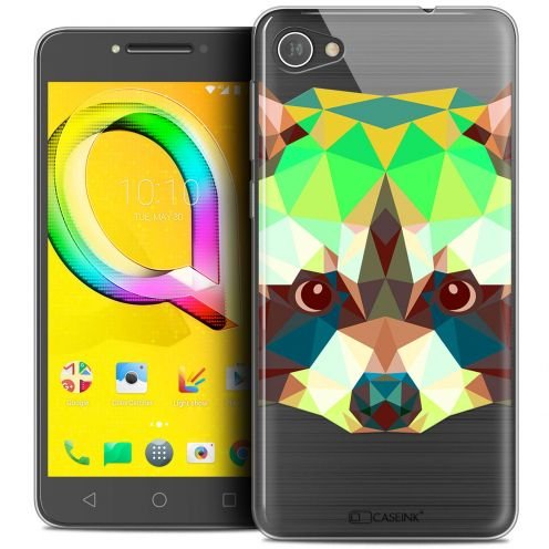 "Extra Slim Crystal Gel Alcatel A5 LED (5.2"") Case Polygon Animals Raton Laveur"