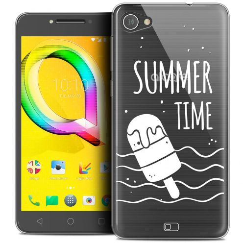 "Extra Slim Crystal Gel Alcatel A5 LED (5.2"") Case Summer Summer Time"