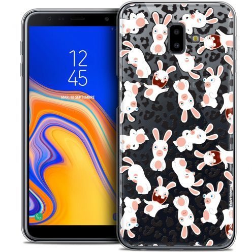 "Crystal Gel Samsung Galaxy J6 Plus J6+ (6.4"") Case Lapins Crétins™ Leopard Pattern"