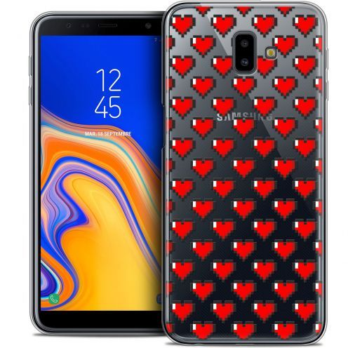 "Extra Slim Crystal Gel Samsung Galaxy J6 Plus J6+ (6.4"") Case Love Pixel Art"