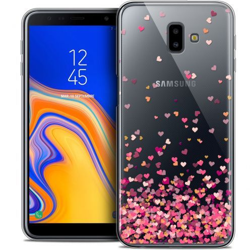 "Extra Slim Crystal Gel Samsung Galaxy J6 Plus J6+ (6.4"") Case Sweetie Heart Flakes"