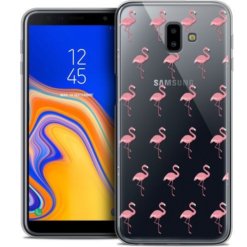 "Extra Slim Crystal Gel Samsung Galaxy J6 Plus J6+ (6.4"") Case Pattern Les flamants Roses"