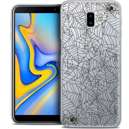 "Extra Slim Crystal Gel Samsung Galaxy J6 Plus J6+ (6.4"") Case Halloween Spooky Spider"