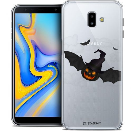 "Extra Slim Crystal Gel Samsung Galaxy J6 Plus J6+ (6.4"") Case Halloween Chauve Citrouille"