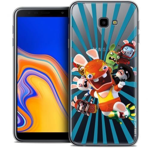 "Crystal Gel Samsung Galaxy J4 Plus J4+ (6"") Case Lapins Crétins™ Super Heros"