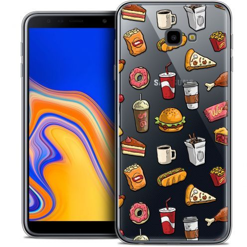 "Extra Slim Crystal Gel Samsung Galaxy J4 Plus J4+ (6"") Case Foodie Fast Food"