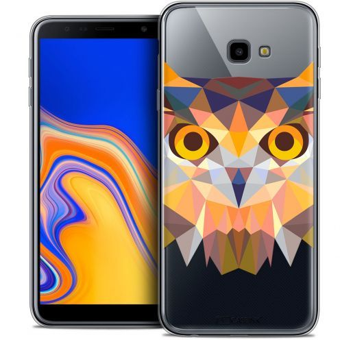 "Extra Slim Crystal Gel Samsung Galaxy J4 Plus J4+ (6"") Case Polygon Animals Owl"