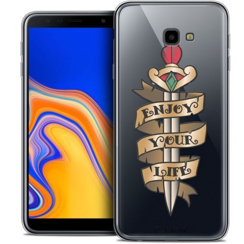 "Extra Slim Crystal Gel Samsung Galaxy J4 Plus J4+ (6"") Case Tatoo Lover Enjoy Life"