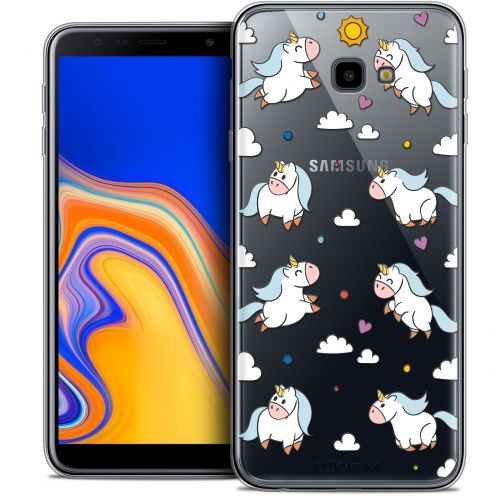 "Extra Slim Crystal Gel Samsung Galaxy J4 Plus J4+ (6"") Case Fantasia Licorne In the Sky"