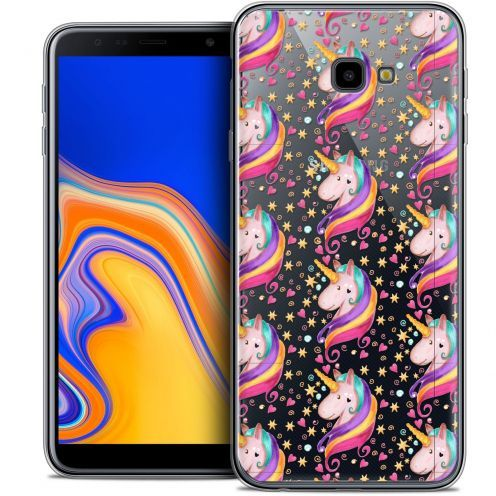 "Extra Slim Crystal Gel Samsung Galaxy J4 Plus J4+ (6"") Case Fantasia Licorne Etoilée"