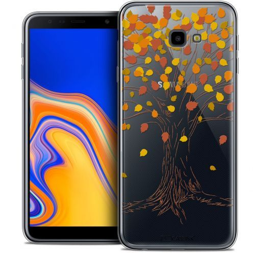 "Extra Slim Crystal Gel Samsung Galaxy J4 Plus J4+ (6"") Case Autumn 16 Tree"
